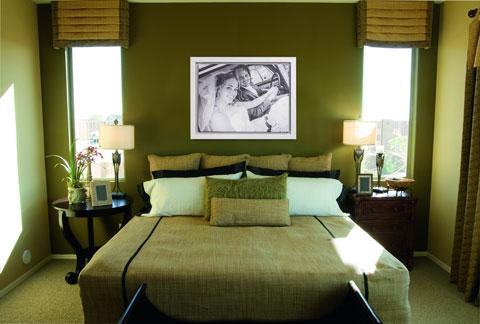 Baklijst een canvas lijst voor linnen in een interieur slaapkamer toegepast